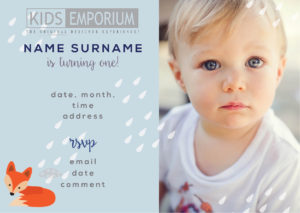 Baby;s first birthday invite